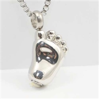 Foot Cremation Pendant (Chain Sold Separately)