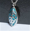 Teal and Silver Cremation Pendant (Chain Sold Separately)