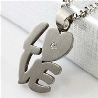 """LOVE"" Cremation Pendant (Chain Sold Separately)"