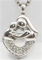 Mother Hugging Child Cremation Pendant (Chain Sold Separately)