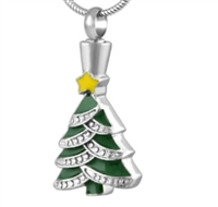 Christmas Tree Cremation Pendant (Chain Sold Separately)