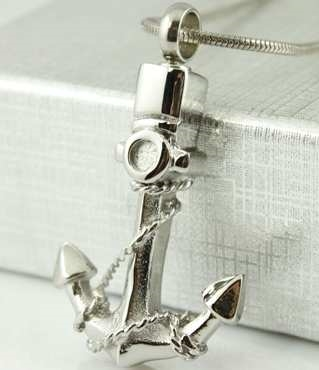 Anchor Cremation Pendant (Chain Sold Separately)