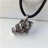 Detailed Fish Cremation Pendant (Chain Sold Separately)