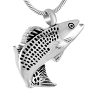 Fancy Fish Cremation Pendant (Chain Sold Separately)