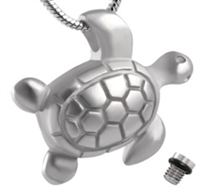 Simple Stainless Steel Turtle Cremation Pendant (Chain Sold Separately)