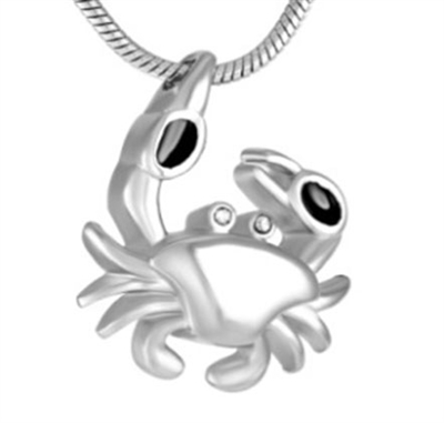 Crab Cremation Pendant (Chain Sold Separately)