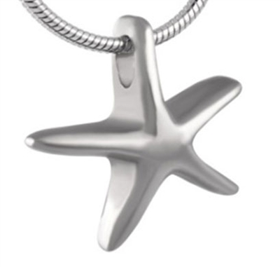 Simple Stainless Steel Starfish Cremation Pendant (Chain Sold Separately)