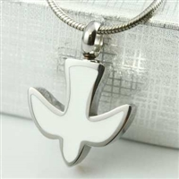 White Dove Cremation Pendant (Chain Sold Separately)