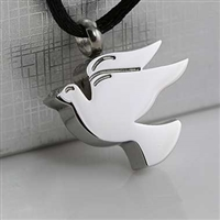 Simple Stainless Steel Dove Cremation Pendant (Chain Sold Separately)