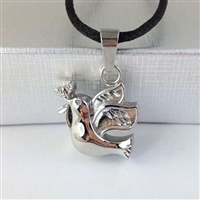 Dove With Flower In Beak Cremation Pendant (Chain Sold Separately)