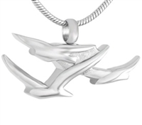 Birds In Flight Cremation Pendant (Chain Sold Separately)