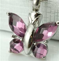 Fancy Purple Butterfly Cremation Pendant (Chain Sold Separately)