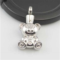 Teddy Bear Cremation Pendant (Chain Sold Separately)