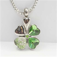 Fancy Four Leaf Clover Cremation Pendant (Chain Sold Separately)