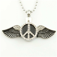 Peace Sign With Angel Wings (Chain Sold Separately)