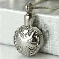 Round With Angel Pattern Cremation Pendant (Chain Sold Separately)