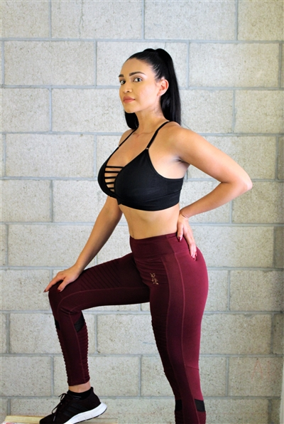 Maroon Dynamic Legging