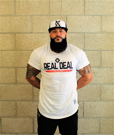 White Real Deal Birth Henley Tee