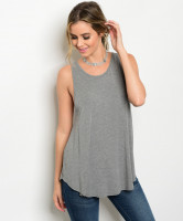 112-5-1-T55157 HEATHER GREY TOP 2-2-2