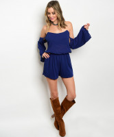 129-2-4-R36014 NAVY OFF SHOULDER ROMPER 2-3-3