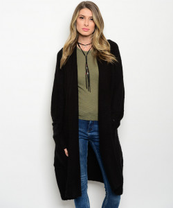 S12-5-5-C9228 BLACK CARDIGAN / 5PCS