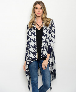 136-2-1-CNJ35235 NAVY OFF WHITE CARDIGAN 1-2-4