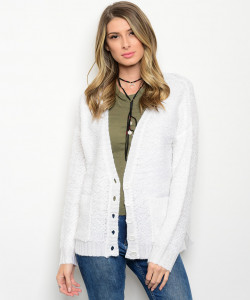 122-3-5-CAT00096 WHITE CARDIGAN 1-2-2