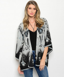 113-4-2-CT10363 GRAY INDIGO CARDIGAN 2-2-2