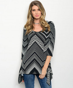 120-3-3-T534P325 BLACK WHITE TOP 3-2-1