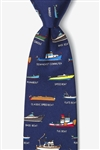 Tie: Name That Powerboat (Navy Blue)