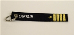 Keychain: Various Embroiderd Officer (Captain Shown)