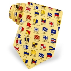 Tie: Boating Signals (Yellow)