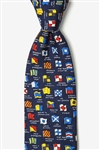 Tie: Boating Signals (Blue)