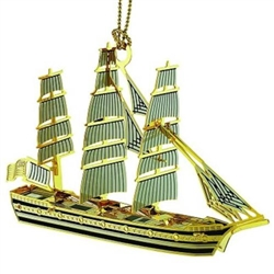 Ornament: 3-D Tall Ship