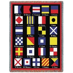 Blanket: Nautical Flags