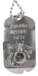 Dog Tag: Proud Marine Dad