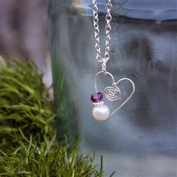 signature heart charm necklace