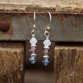 Simple Birthstone Earrings