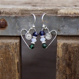 Birthstone Heart Earrings