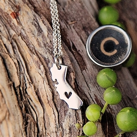 I Love California charm necklace
