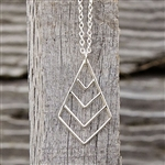 Fancy Chevron Necklace in Silver