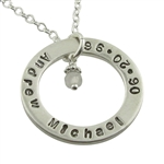 Hand-Stamped Personalized ring necklace