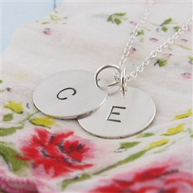 Initial Stamped Charm Necklace by {Jules} jewelry