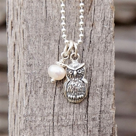 Oliver Owl - Modern Charm Necklace for Teachers