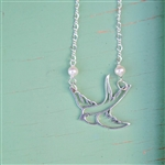 sparrow necklace in sterling silver
