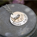 Larger Layered Hand Stamped Necklace