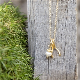 Itty Bitty Wishbone Charm Necklace