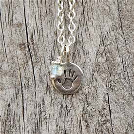 Itty Bitty Handprint Charm Necklace