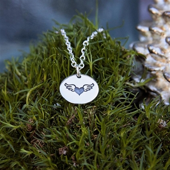 My Heart Takes Wing - Circle Necklace