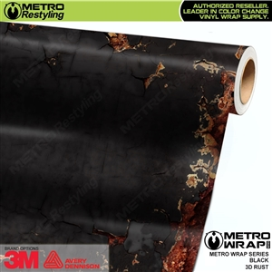 Metro 3D Black Rust Vinyl Car Wrap Film